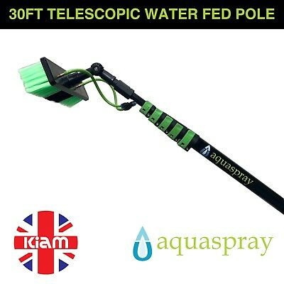 Aquaspray 30ft Telescopic Water Fed Pole Lightweight Window Cleaning Water Spray