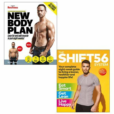 Jon Lipsey New Body Plan Men's Fitness and SHIFT56 System 2 Books collection Set