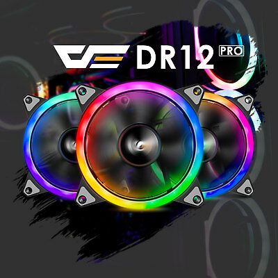 Aigo Aurora DR12 3IN1 Kit 3-Pack RGB LED 120mm High Performance Case Cooling Fan