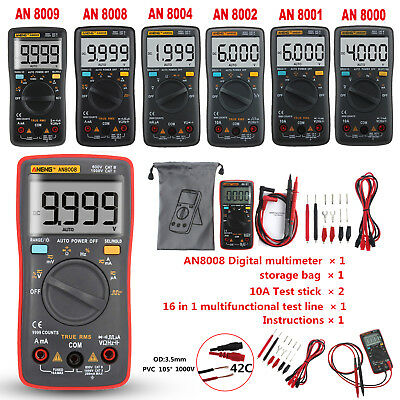 AN8008 True RMS Digital LCD Multimeter 9999 Auto Range Stromspannung Amperemeter