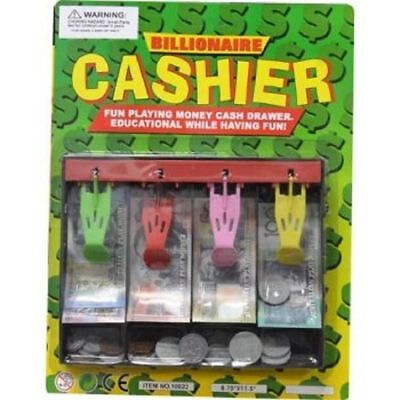 Cashier 40pc Australian Play Money in Cash Draw Tray NEW Notes & Coins