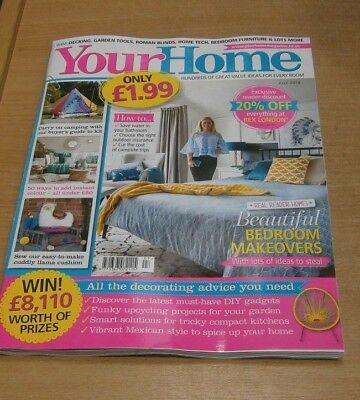 Your Home magazine JUL 2018 Bedroom Makeovers, DIY Gadgets, Funky Upcycling &
