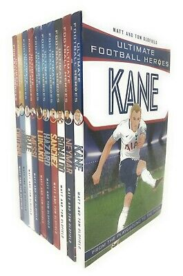 Ultimate Football Heroes 10 Books Set Collection Pack Messi, Neymar, Ronaldo...