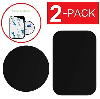 2-Pack Replacement Mount Metal Adhesive Plate for Magnetic Phone Car Holder