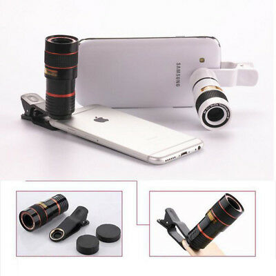 8x Zoom Optical Camera Telescope Lens+Universal Clip Kit For Mobile Cell Phones