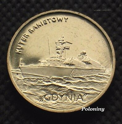 """Coin Of Poland - Polish Navy Missile Boat Orp """"gdynia"""" (Mint)"""