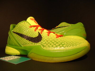539289861699 Nike Zoom Kobe Vi 6 Christmas Grinch Volt Black Apple Crimson 429659-701  10.5
