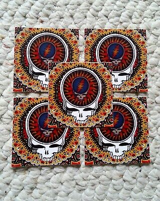 5 grateful dead steal your face stickers. company.