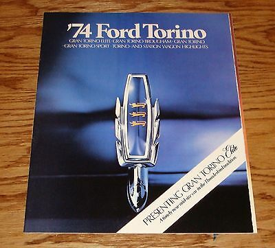 Original 1974 Ford Torino Elite Sales Brochure 74 Brougham Sport Station Wagon