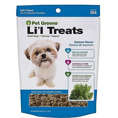Pet Greens Semi Moist Li'l Healthy Salmon Dog Treats 6 oz