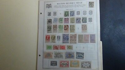 Belgium Stamp collection on Minkus album pages to '68 w/ 1,000
