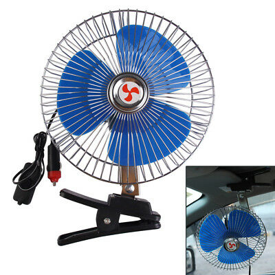 8'' 12V Portable Vehicle Auto Car Fan Oscillating Car Auto Clip-On Cooling Fan