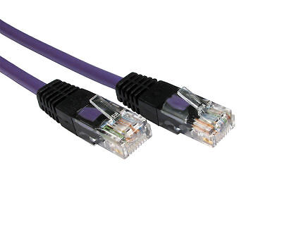 1m RJ45 CROSSOVER Cable Cat5e Network Ethernet Lead  X Over CROSS WIRED - PURPLE