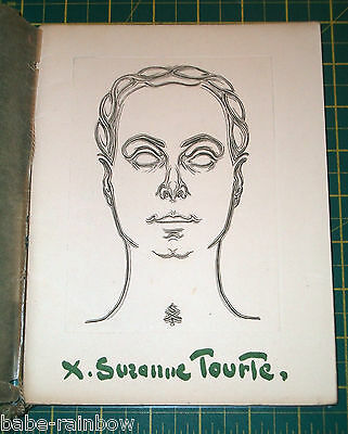SUZANNE TOURTE - Book with ORIGINAL DRAWING - SIGNED - 1953 - Limited edition