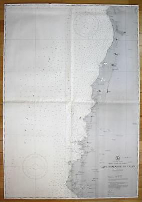 1940 Philippine Islands West Coast of Luzon Cape Bojeador Vigan Asia map