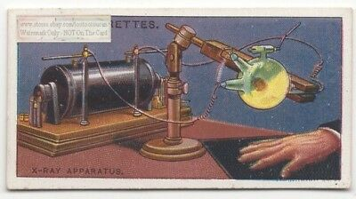 Early 1900s Radiology Crookes X-Ray Tube Sciagram 100+  Y/O Ad Trade Card