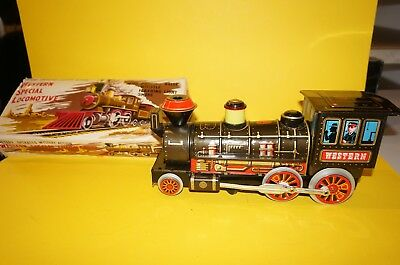 "RF32 42 TRADE MARK MODERN TOYS Blechlokomotive  "" WESTERN "" in OVP"