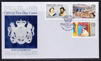 Swaziland 1977 Silver Jubilee First Day Cover Unaddressed