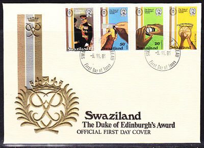 Swaziland 1981 Duke of Edinburgh Awards First Day Cover Unaddressed