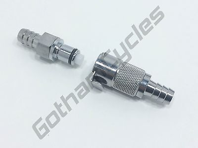 """ATV 3/8"""" Gas Petrol Fuel In-Line Hose Metal Quick Release Disconnect Coupling"""