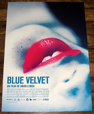 BLUE VELVET David Lynch Kyle MacLachlan Isabella Rossellini SMALL French POSTER