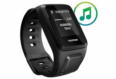 TomTom Spark Fit + Music and Headphones Activity Tracker GPS Watch Black - Small
