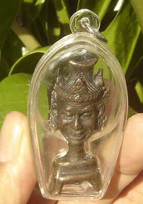 "Locket bronze image head ascetic Buddha ""Lung Por Kea""Amulet Thai"
