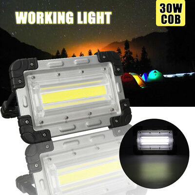 30W USB COB LED Portable Rechargeable Flood Light Work Camping Outdoor Lamp