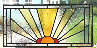 Newly Created Sun Burst Design Stained Glass Panel - Ref Sg316