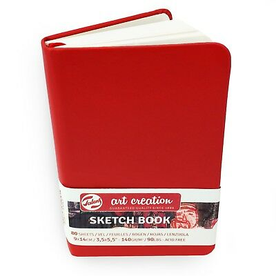 Royal Talens – Art Creation Hardback Sketchbook – 80 Sheets – 9x 14cm – Red