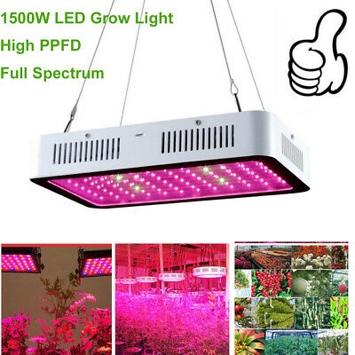 Led grow light Croissance Floraison Horticole Lampe avec Crochet IR UV Led 1500W