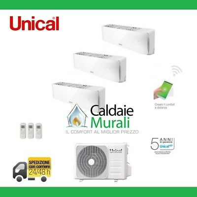 Climatizzatore Unical Trial Air Cristal 9000+9000+9000 Con Cmx3 21He 9+9+9