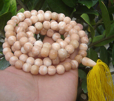 "109beads ""Pra-Kom""Thai Prayer Buddha Beads mala caved relic stone Samroiyod Monk"