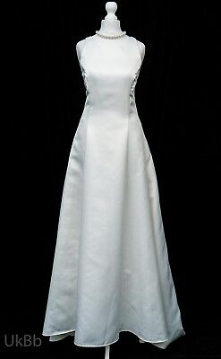 Vintage wedding dress jessica mcclintock ivory satin size 8 cosplay vintage wedding dress jessica mcclintock ivory satin size 8 cosplay r708 junglespirit Image collections