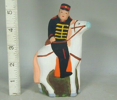 OFFICER SOLDIER HORSE Doll #942 Japanese WWI WWII WW2 Bisque Figure Figurine Toy