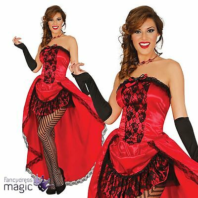 Adults Red Ladies Burlesque Can Can Saloon Girl Moulin Rouge Fancy