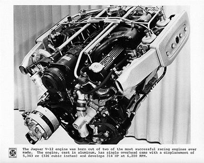 1972 Jaguar XKE V12 Engine Factory Photo cb1263