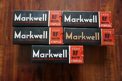 Lot of 5 Markwell 1/4 Inch Legs RF Master Staples
