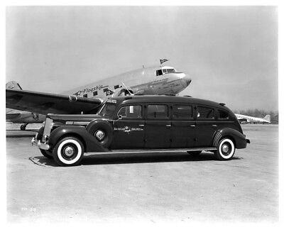 1938 Packard Limousine American Airlines Plane ORIGINAL Photo Negative nad2175