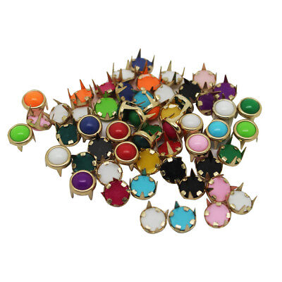 50Pcs Metal Pearl Studs Claw Rivet Leather Craft for Bags Jeans Belt Decor