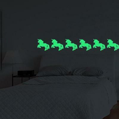 Sticker In The Dark Glow Unicorn Horse Luminous Wall Stickers Vinyl CB