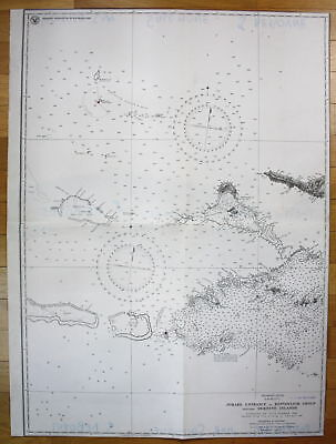 1943 Jomard Entrance Bonvouloir Group Deboyne Islands Papua-Neuguinea map