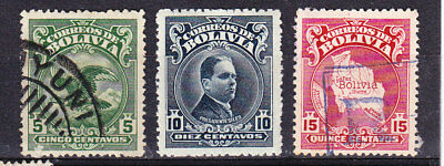 Bolivia 1928 Issues  Used