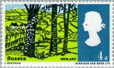 GREAT BRITAIN -1966- Landscapes - Hassocks, Sussex - MNH Stamp  Sc.#454