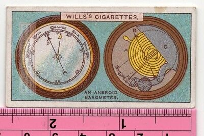 Aneroid Barometer Weather Atmospheric Pressure Forecasting 90+ Y/O Trade Ad Card