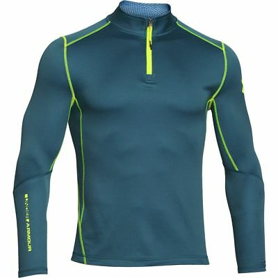 New With Tags Mens Under Armour Muscle ColdGear Infrared Grid 1/2 Zip Top Jacket