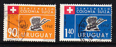 Uruguay 1962 Swiss Settlers Airmails Used