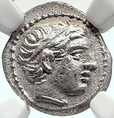 PHILIP II 323BC Macedonia Authentic Ancient Silver Greek OLYMPIC Coin NGC i70003