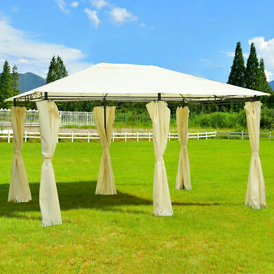 13'x 10' Gazebo Canopy Shelter Patio Party Tent Outdoor Awning W/Side Walls