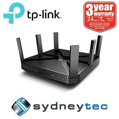 New TP-Link Archer C4000 AC4000 MU-MIMO Tri-Band Wi-Fi Router